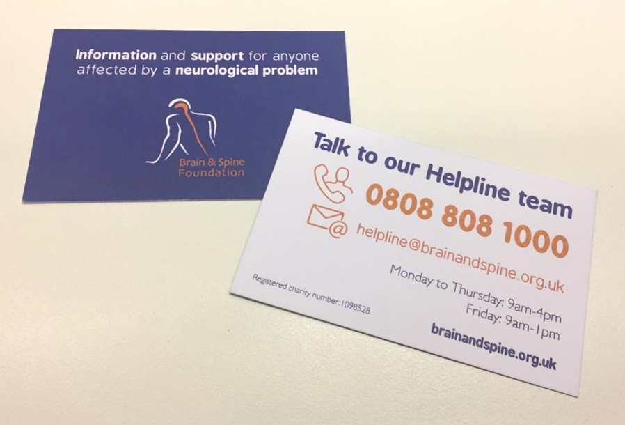 Helpline business cards