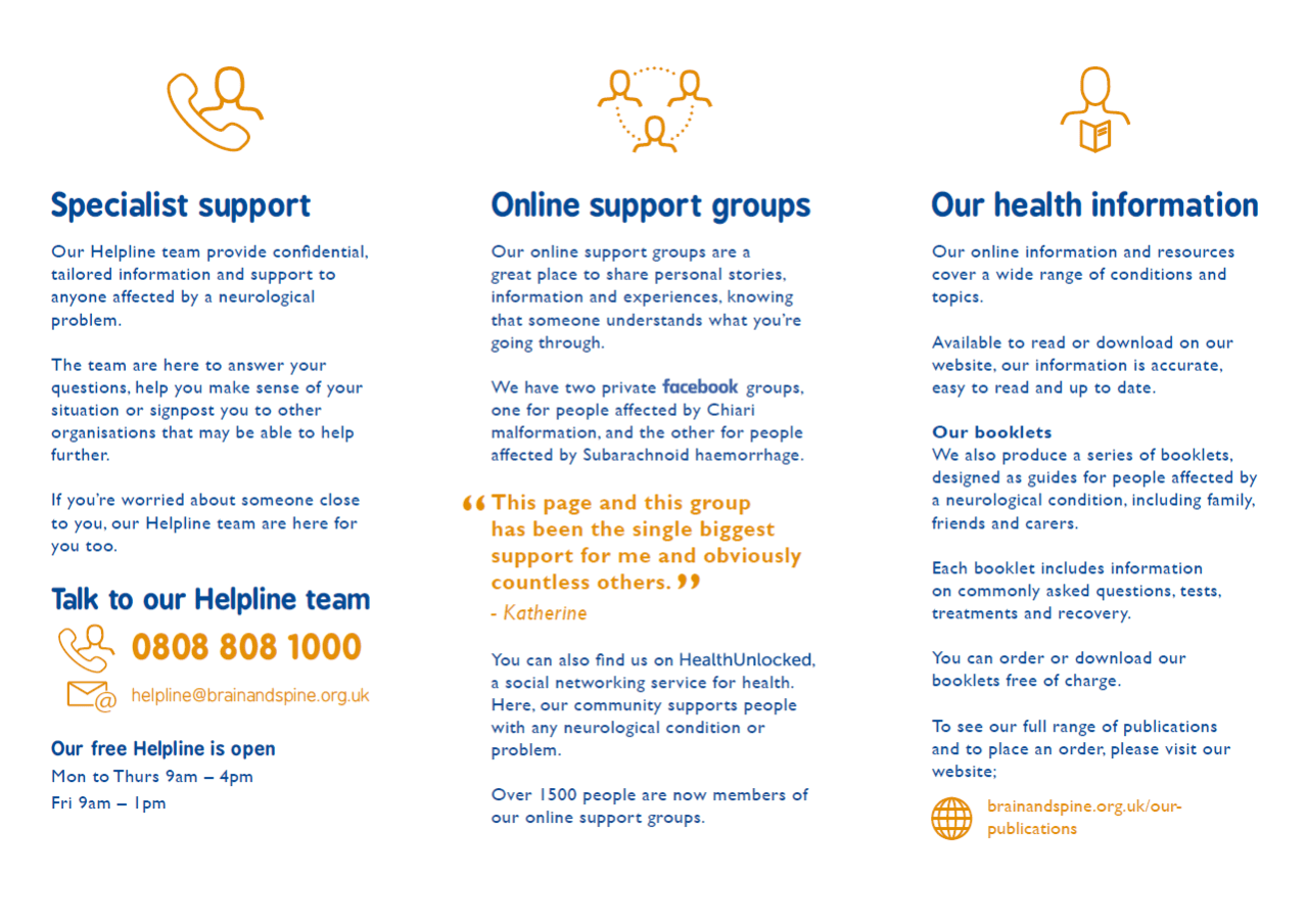 'Support For You' services leaflet